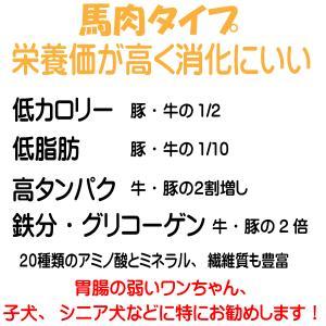 【愛犬ワンダフル】 馬肉タイプ・鶏肉タイプ 800g  2個 (1.6kg)セット  (小粒も選べます) ナチュラル ドッグフード (犬用全年齢対応) potitamaya-y 04