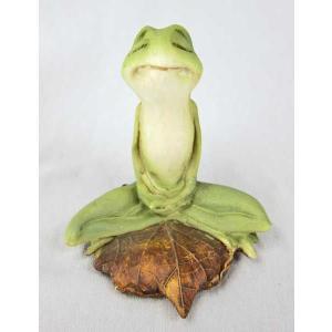 蛙 かえる カエル 置き物  オブジェ 瞑想するカエル 30%引き アウトレット。 ・サイズ:幅7....