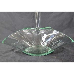 ガラス器 花器 手付きバスケット型 フラワーアレンジメント ドライフラワー プリザーブドフラワー 50%引き 在庫1個 アウトレット potos 03