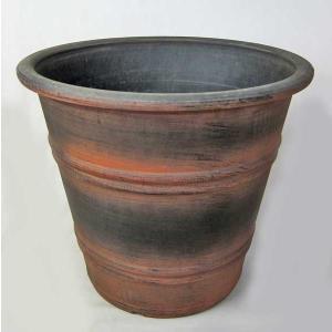 植木鉢・プラスチック鉢・アンティークレジンポット(茶)・10号鉢