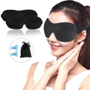 収納袋 耳栓付き アイマスク 安眠 遮光 睡眠 眼精疲労 快眠 アイ 低反発 目隠し 飛行機 3D ...