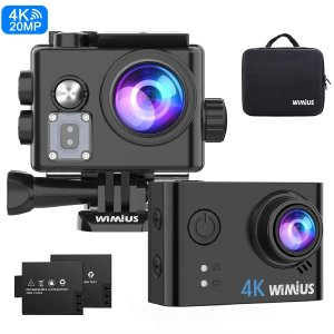 WIMIUS アクションカメラ 4K高画質 2000万画素 手振れ補正 スポーツカメラ wifi搭載...