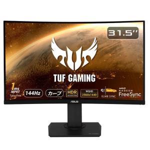 ASUS TUF Gaming ゲーミングモニター VG32VQ 31.5インチ湾曲 WQHD VA...