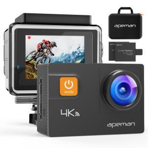 【新型4K/30FPS】APEMAN A80 アクションカメラ 4K画質 2000万高画素 光学4倍...