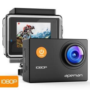 【進化版】 APEMAN A66S アクションカメラ 1080P高画質 1400万画素 HDMI出力...