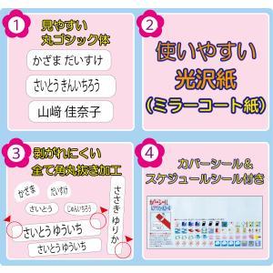 算数セット お名前シール 光沢紙・お徳用タイプ 低スト品で人気のおなまえシール 全706片|pourvous2|02