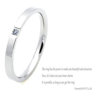 リング 指輪 レディース ペアリング CZ ダイヤ シンプル ring シルバー|povstore