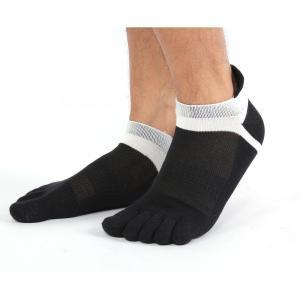 ソックス 靴下 3足 セット スポーツソックス 5本指 ランニング トレーニング ジム おしゃれ povstore 02