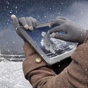 送料無料 スマホ タブレット 対応 シルク タッチ 手袋 てぶくろ グローブ iPhone|povstore