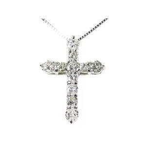 天然ダイヤモンド1ctネックレス/クロス/ホワイトゴールド/芦屋ダイヤモンド|power-house-again