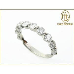 ダイヤモンドリング/1.0ctハーフエタニティリング/プラチナ900指輪/芦屋ダイヤモンド|power-house-again