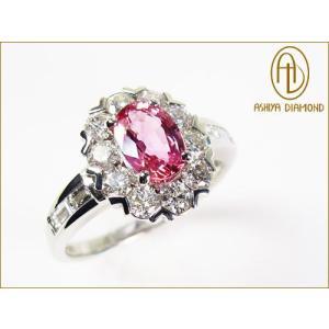 パパラチアサファイアリング/0.930ct ダイヤモンド0.82ctプラチナ900指輪/芦屋ダイヤモンド/極KIWAMI|power-house-again