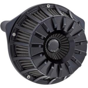 ハーレー 15スポーク エアクリーナー フルブラック 17〜20年 M8用 1010-2464|power-toys