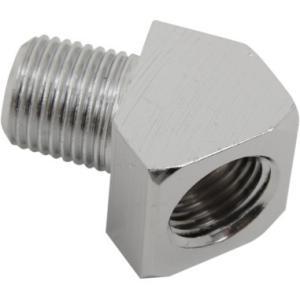 ハーレー オイルゲージフィッティング45度 クローム DS-245200|power-toys