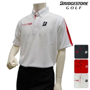 半袖シャツ系 3GDT1A 春夏モデル ブリヂストン-BRIDGESTONE- MENS (メンズ)ボタンダウン 半袖ポロシャツ 16 トップス ウエア M,L,LLサイズ ゴルフ用品|powergolf-y