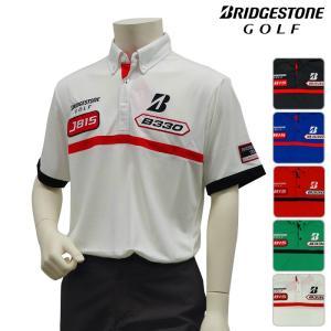 ブリジストン ゴルフウェア ポロシャツ メンズ 半袖 春夏 半袖ポロシャツ ボタンダウンシャツ|powergolf-y