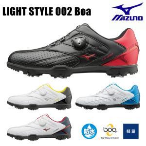 ミズノ MIZUNO ゴルフシューズ メンズ ボア ダイヤル式 軽量 3E 幅広 おしゃれ 人気 ライトスタイル 002 Boa 51GM1760 2016年モデル