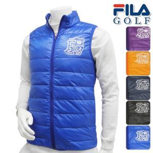 2015年秋冬モデル FILA GOLF-フィラゴルフ- MENS 785-200(メンズ) ライトダウンベスト トップス ウエア M,L,LLサイズ ゴルフ用品|powergolf-y