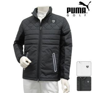 5c84b4e33aa959 プーマ PUMA ゴルフウェア メンズ 秋冬 ブルゾン アウター ジャケット 長袖 おしゃれ ハイブリッド パデッドジャケット 923596 2017