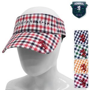 帽子系 ADMB606F 2016年春夏モデル Admiral GOLF-アドミラルゴルフ- LADYS (レディース) ギンガムチェック バイザー 帽子・キャップ ヘッドウエア ゴルフ用品|powergolf-y