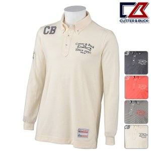 長袖シャツ系 CBM1425 秋冬モデル CUTTER&BUCK-カッターアンドバック- MENS (メンズ) 長袖 ニット ボタンダウン シャツ|powergolf-y