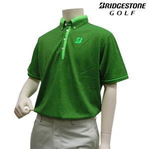 半袖シャツ系 DGM21A 春夏モデル ブリヂストン-BRIDGESTONE- MENS (メンズ)ボタンダウン 半袖ポロシャツ 16 トップス ウエア M,L,LLサイズ ゴルフ用品|powergolf-y