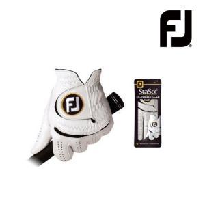 ゆうパケット対応可能商品 フットジョイ/FOOTJOY StaSof ステイソフ メンズゴルフグローブ FGSS12(左手用) ゴルフ用品 201|powergolf-y