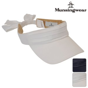 帽子系 JALK354 NEW秋冬モデル Munsingwear-マンシングウェア- LADYS(レディース) リボン付き バイザー 17 ヘッドウェア ゴルフ用品|powergolf-y