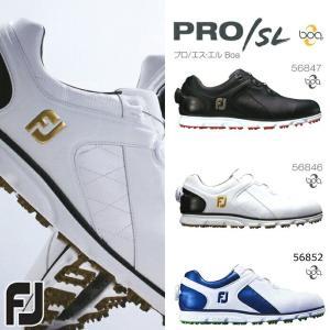 フットジョイ FootJoy ゴルフシューズ メンズ スパイクレス ボア ダイヤル式 おしゃれ 人気 プロSL PRO SL Boa 2017年モデル powergolf-y