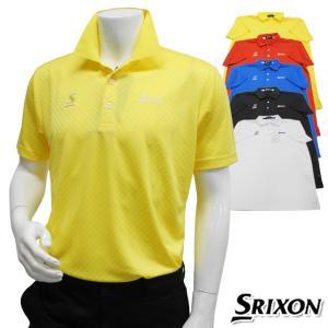 2015年春夏モデル DUNLOP-ダンロップ- SRIXON/スリクソン MENS SMP5113A(メンズ) 半袖シャツ トップス ウエア M