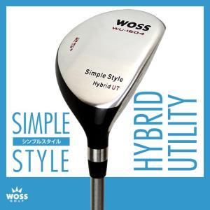 ユーティリティ WOSS(ウォズ)シンプルスタイル ユーティリティー メンズ レディース/ゴルフ クラブ 男女兼用 ロフト角 22度 25度 22