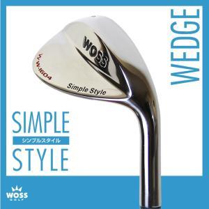 ウェッジ WOSS(ウォズ)シンプルスタイル ウェッジ メンズ レディース/ゴルフ クラブ 男女兼用 ロフト角 52度 54度 56度 58度 5