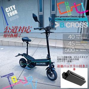 電動キックボード EVスクーター B.CROSS 13ah 追加バッテリー付き 最高時速40〜45キ...