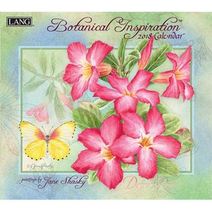 2018ラングカレンダー Botanical Inspiration pp-koshidou