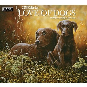 2018ラングカレンダー Love Of Dogs|pp-koshidou