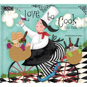 2018ラングカレンダー Love To Cook pp-koshidou