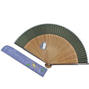 短地絹扇子セット  かえる pp-koshidou