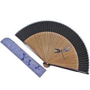 短地絹扇子セット  とんぼ pp-koshidou