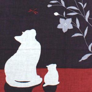 濱文様 絵てぬぐい  月と猫|pp-koshidou