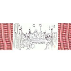 かまわぬてぬぐい 浮世絵鳥獣戯画 日本橋 pp-koshidou
