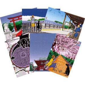 jujuTakeshiポストカードセット「鎌倉」|pp-koshidou