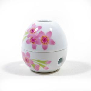 桜の卵型お香皿 pp-koshidou