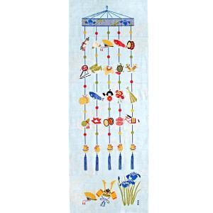 濱文様 絵てぬぐい 端午の吊るし飾り|pp-koshidou