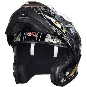 GXT160 フルフェイスヘルメット バイクヘルメット BikeHelmet ダブルシールド ダブル...