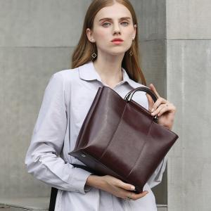 パッケージ2018新製品ファッション雰囲気シンプルなレディースシングルショルダー斜十字バッグレザーレディースバッグオイルワックスハンドバッグ|ppap191919