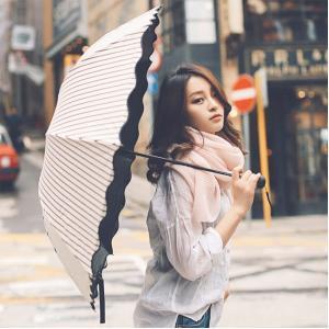 日傘 晴雨兼用 軽量 UVカット 折りたたみ傘 100% 遮光 遮熱 完全遮光 折り畳み 傘 レディース ボーダー柄日傘 遮熱効果 UVカット 紫外線対策|ppap191919