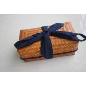 送料無料 かご箱 竹の茶の包装 茶器箱 収納ボックス 巾着 手作 竹製編みバッグ|ppap191919