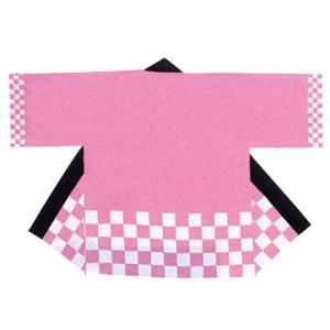 カラー市松袢天(はんてん・ハッピ) フリーサイズ 身巾65cm 身丈80cm|pr-youhin