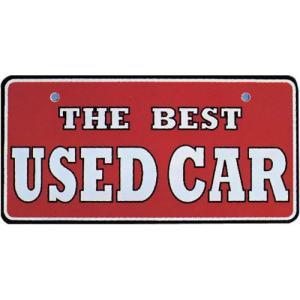 【5枚以上から】18-102 ナンバープレート アルミ製 THEBEST USEDCAR※5枚以上から販売|pr-youhin