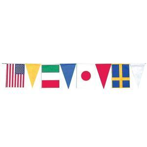 【2個から販売】73-127 連続旗「三角入万国旗」全長10m / アソートOK【車販売・展示会場】|pr-youhin